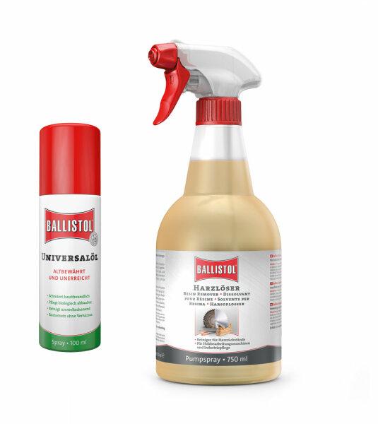Ballistolset Universalöl 100 ml/ Harzlöser 750 ml